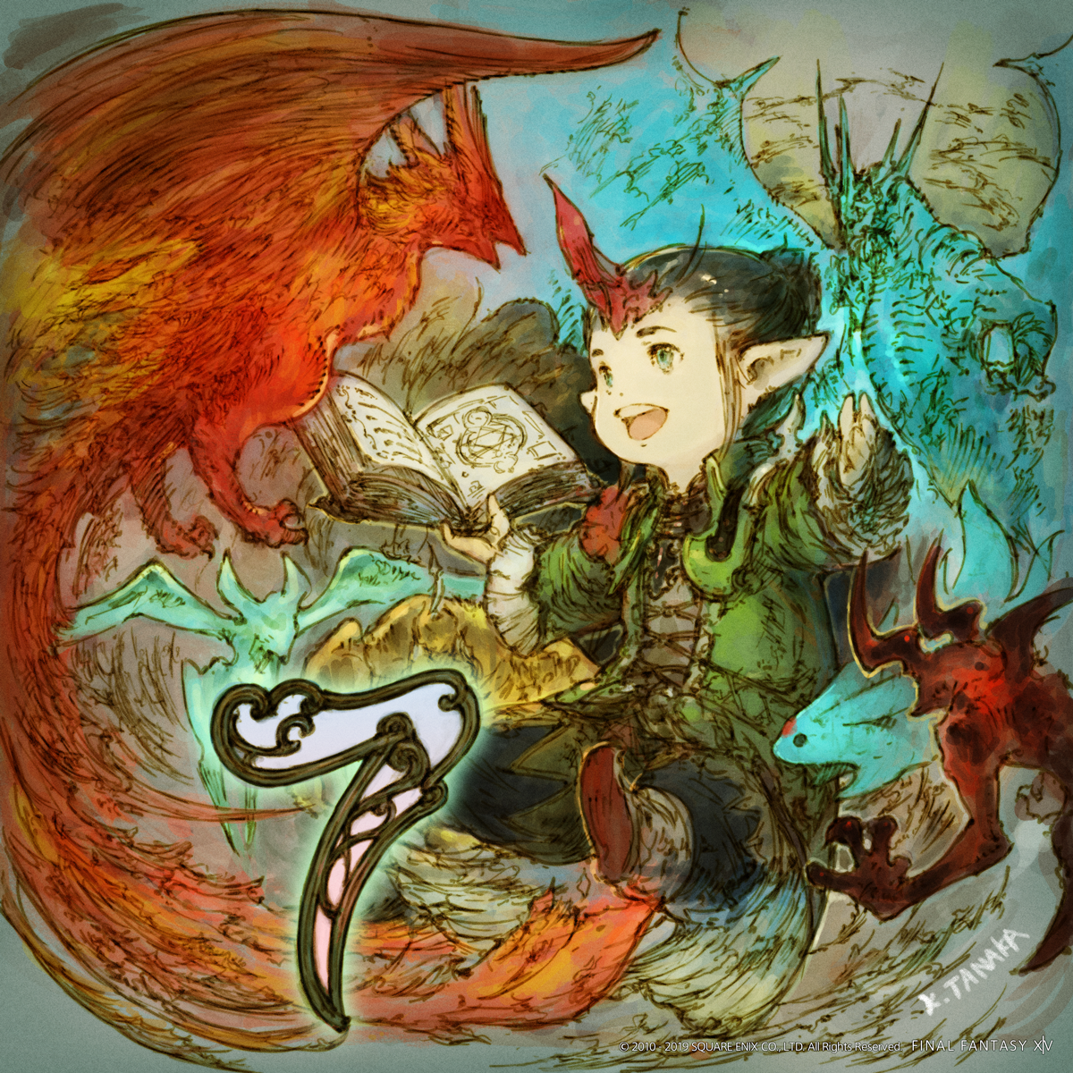 Illustrated Shadowbringers Countdown - 7 Days Left | FINAL FANTASY
