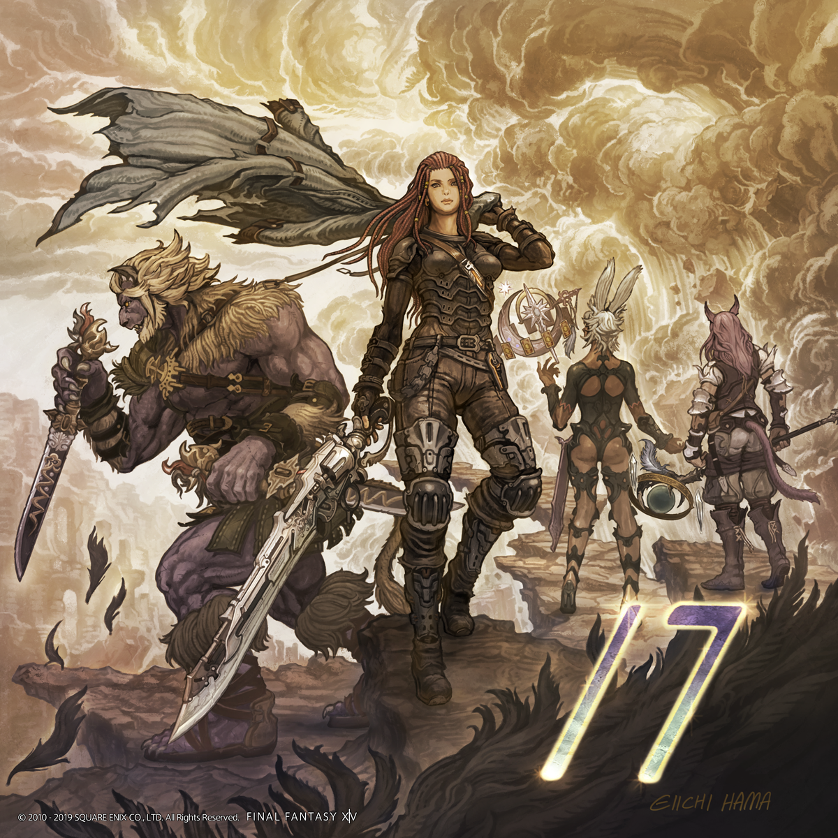 Illustrated Shadowbringers Countdown - 17 Days Left | FINAL FANTASY